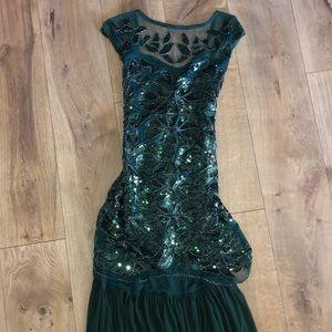 Green Maxi Sparkle Dress
